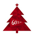 60 off sixty percent discount christmas tree vector image vector image