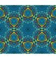 blue geometric seamless pattern vector image