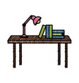 books on desk vector image vector image