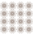 Brown abstract lace flowers on the white vector image vector image