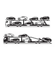 car transporter trucks vector image vector image