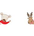 cartoon banner for holiday theme with bear and vector image