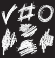 chalkshapes2 vector image vector image