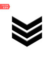 chevron icon on white background flat style vector image vector image
