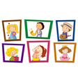 Children and photo frames vector image vector image