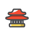 china temple home icon cartoon vector image