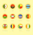 circular flags of algeria angola benin vector image