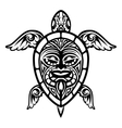 Close up Turtle Polynesian Tattoo vector image