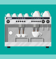 coffee maker with cups vector image vector image
