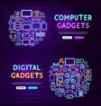 computer gadgets website banners vector image vector image