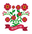 cute bunch flowers decorative mothers day banner vector image