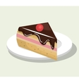 delicious and sweet cake isolated icon design vector image