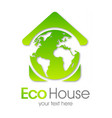 eco house green earth vector image vector image