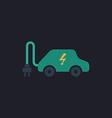 Electric car computer symbol vector image vector image