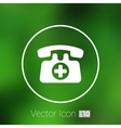 emergency call sign icon fire phone number vector image vector image