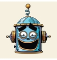 emoticon funny laughing emoji robot head smiley vector image vector image