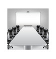 Empty meeting room and presentation board vector image vector image