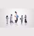 female doctor leader standing in front medical vector image vector image