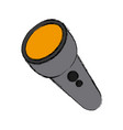 flashlight isolated symbol vector image vector image