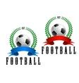 Football or soccer retro emblem vector image vector image