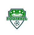 football soccer club sport badge ball icon vector image vector image