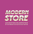 glamour logo modern store with elegant font vector image vector image