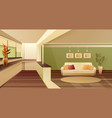 hall balcony apartment interior vector image