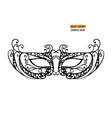 hand drawn venetian carnival metallic mask vector image vector image