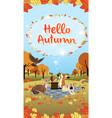 hello autumn season greeting long version vector image