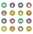 Hotel room icons set vector image vector image