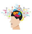 human brain process concept vector image