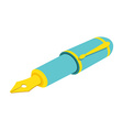 Isometric fountain pen on white background For web vector image vector image