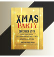 luxury golden christmas flyer design template vector image vector image