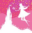 Magic Fairy Tale Princess Castle vector image