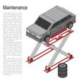 maintenance service car concept background vector image