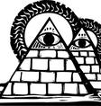 Masonic Pyramids vector image vector image