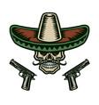 mexican skull vector image