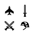 military weapons simple related icons vector image vector image