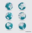 Modern globes vector image vector image
