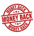 money back round red grunge stamp vector image