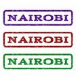 nairobi watermark stamp vector image vector image