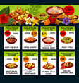 price menu for malaysian cuisine vector image vector image