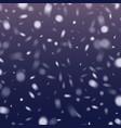 realistic snowflake against a dark vector image vector image