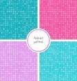 Seamless dot patterns set vector image