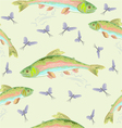 Seamless texture rainbow trout leaping vector image vector image