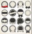 set blank retro vintage badges vector image vector image