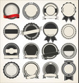 set of blank retro vintage badges vector image vector image