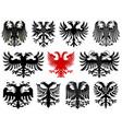 set of heraldic german eagles vector image