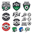 set soccer labels emblems and design elements vector image