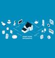 smart home isometric infographics vector image